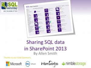 SQL to SharePoint 2013
