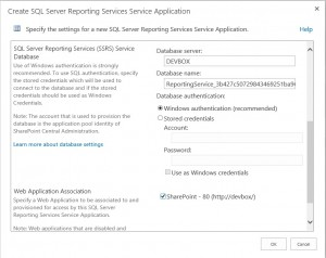 SharePoint SSRS App2