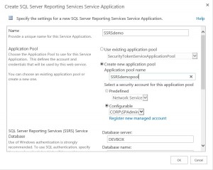 SharePoint SSRS App1
