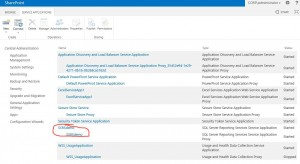 SharePoint Service Applications SSRS