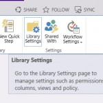 SharePoint 2013 Library Settings